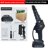 36V 12.7CM mini electric chain saw, mini electric hand chainsaw with 1 batteries, 1 charge