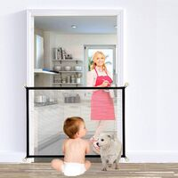 Dog Gates , Portable Dog Netting Safety Gates, Foldable Stair Gates Keeping Your Pet Safe with Nails