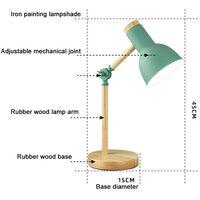 Creative Nordic Wooden Art Iron LED Folding Simple Desk Lamp Eye Protection Reading Table Lamp Living Room Bedroom Home Decor Yellow - white light