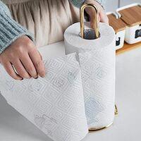 Portable stainless steel kitchen roll holder for restaurant