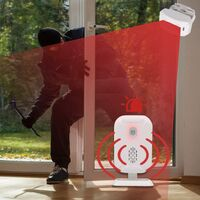 Motion Detectors Alarm, Wireless Doorbell for Front Door / Visitor Home and Store / Mailbox, Alarm System Kit with 2 Sensor and 1 Receiver - YBQ042