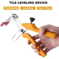 Tile Leveling Clamp Floor Clamps Ceramic Tile Installation Tools (Yellow)