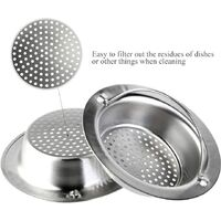 2pcs Stainless Steel Portable Kitchen Sink Strainer, Drain Stopper for Home Bathroom Kitchen Sinks (Large)
