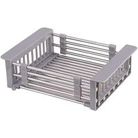 Extendable Dish Rack & Utensil Rack, 304 Stainless Steel Dish Rack Above Sink, Dish Drainer in Sink or Countertop
