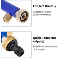 Hydro Jet Lance, Hydro Jet Power Washer, High Pressure Water Gun With Nozzle, High Pressure Water Jet Car Washer, Sprinkler Cleaning Tool Spray Nozzle