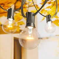 Outdoor String Lights - 25 Feet G40 Waterproof Patio Lights with 27 Edison Vintage Bulbs(2 Spare), Decorative Globe String Lights for Backyard Balcony Party Porch Bistro Cafe Garden