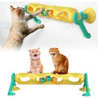Cat Catnip Toys - Turntable Toys with Interactive Spinning Track Ball for Indoor Cats,Funny Kitten Toy Molar Puzzle Scratching Gift