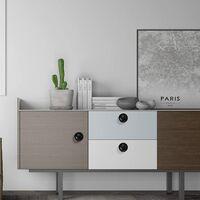 12 Black Door Drawer Handle, Round Hole Drawer Knobs, Dresser Knob, Cabinet Door Handles for Closet Kitchen Cupboard - 1.2 in/30 mm