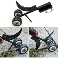 Manual Weeder with Wheels, Weed Knife Tool, Crack And Crevice Weed Remover Tool, Garden Hand Weeder Cleaning Tool