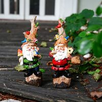 Garden Decor Outdoor Statue Gnomes - Outdoor Decoration Fairy Garden Statues Gnome Home Decor Miniature Large Funny Resin Figurines Accessories for Outside Yard Lawn Decorations