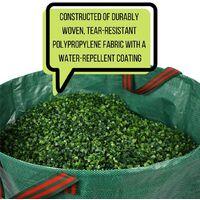 Garden Yard Waste Bags Sacks, Reuseable Gardening Lawn Leaf Bag Garden Tote Debris Container Pop up Grass Bin Landscape Pool Leaves Collector,60 Liter