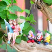 Miniature Fairy Garden Accessories Outdoor Decoration Miniature Garden Gnomes Figurines Outdoor Statues House Fairy Figurine Miniatures Kit Gift Gnomes Mini Statue Home Decor for Kids