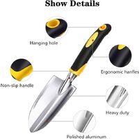 Garden Trowel, Hand Shovel, 1 Piece Cast-Aluminum Heavy Duty Gardening Tool, Garden Hand Tools for Men, Women and Kids.