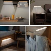 Closet Lights Motion Sensored, Under Cabinet Motion Sensor Lighting Rechargeable Strip Light for Closet Without Electricity, Wireless Automatic Light Bar for Home Kitchen Shelf Case
