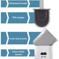 Toilet Brush Set Toilet Brush Silicone Toilet Cleaning Brush Kit Silicone Flex Toilet Brush Silicone with Holder Quick Drying Toilet Set