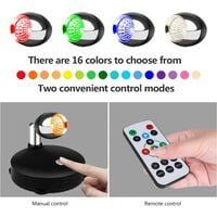 Wireless Spotlight Battery Operated Spot Light Up Lights Indoor Mini Accent Lights Dimmable Art Lights LED Spotlights with Remote Stick on Anywhere Rotatable Wall Light ( RGB 2 Pack )