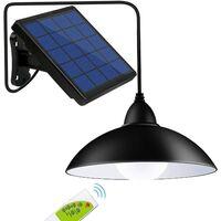 Lights Outdoor Indoor, 12 LED (Equivalent to 50W Incandescent Brightness) Waterproof Remote Control Solar Pendant Light Hanging Lamp for Gazebo, Garden,Garage, Yard, Patio, Lawn, Balcony