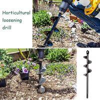 Garden Spiral Drill, Drill Shovel for Post Holes Drill & agrave; Earth Drill Spiral Drill Shovel Drill Tool for Planting Flowers (22x4cm)