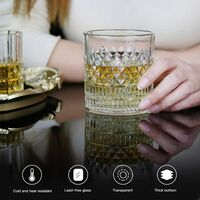 Whiskey Glasses Old Fashioned Whiskey Glass Barware for Scotch, Bourbon, Liquor and Cocktail Drinking for Men - Set of 4