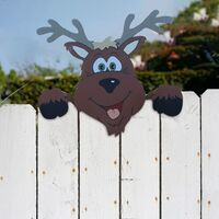 Christmas Elk Fence Peeker Christmas Decoration Outdoor Festivity To The Occasion Xmas Gifts Happy New Year 2021 Navidad Noel