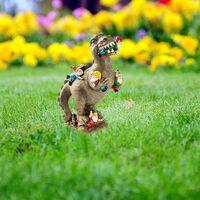 23x5x6cm Dinosaur Eating Gnomes Garden Art Outdoor For Fall Winter Garden Decor Outdoor Garden Ornament Dinosaur Decor