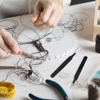 Mini Bead Tweezers Fuse Bead Tweezers Craft Beading Tweezers for Manual DIY Craft Supplies (5)