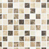 Mosaïque Marbre Mixcolor Atlas - vendu par carton de 0.72 m² - Beige, Brun