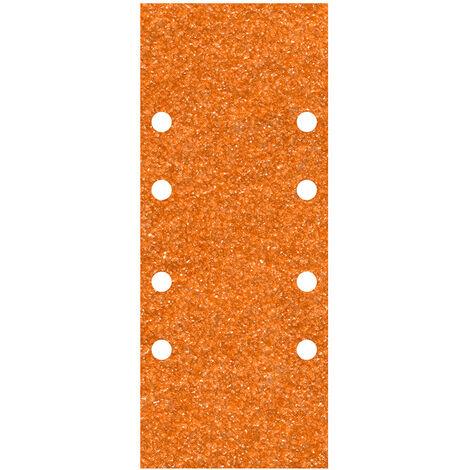 WOLFCRAFT Pack 5 hojas de lija de corindón grano 120 perforadas 93x230mm 1963000 wolfcraft