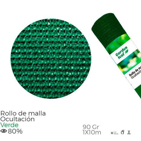 EDM Malla plegada verde 80% 90gr 1x10mts