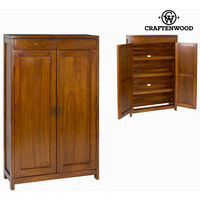 BigBuy Home Zapatero Madera de mindi (130 x 80 x 30 cm) - Colección Serious Line by Craftenwood