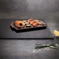 Anaflor Plancha de Piedra para Asar Anaflor Barro Anaflor Cerámica (36,5 X 24 cm)