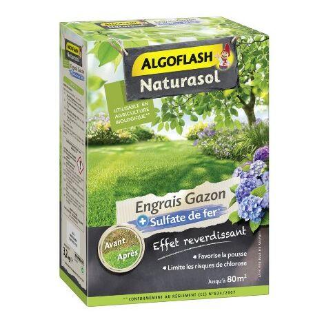 Engrais gazon avec sulfate de fer 3,2kg Algoflash