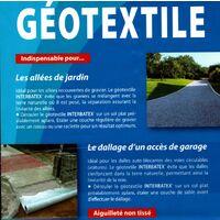 Géotextile 2 mètre de large 110 gr / M2 (vendu au mètre)