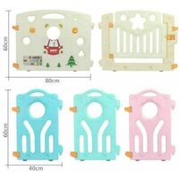 8+1+1 Large Foldable Plastic Baby Playpen Indoor& Outdoor With Optional Playmats