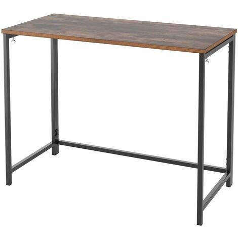 Bamny desk, computer table, folding table, work table, office table, wood, stable for living room, office, office, study, gaming in industrial design, vintage large 98x47.5x75cm