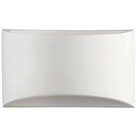 Bamny 4W Modern Wall Light Curved White Ceramic Uplighter Design Living Room Lighting