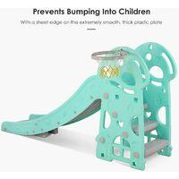 Bamny Children's Slide Children's Children's Fun Slide with basketball hoop Garden slide