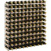 Portavini da 120 Bottiglie in Legno Massello di Pino