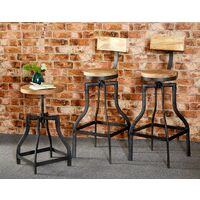 Bar Stool Upcycled Industrial Vintage Mintis