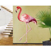 Tatuaje de pared - no.YK21 Pink Flamingo Dimensión LxA: 53cm x 30cm