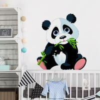Tatuaje de pared - Nibbling Panda Dimensión LxA: 45cm x 40cm