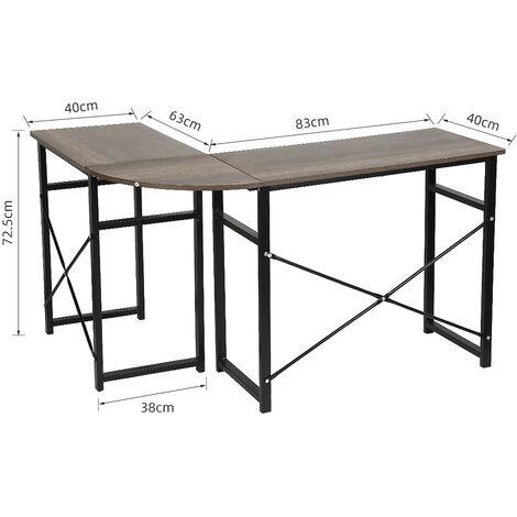 SiFree®Bureaud'anglepourordinateur&meubleinformatique&tabledetravailenChêne
