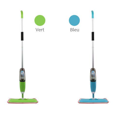 Balai Vapeur Bleu avec Pulvérisation Mop Spray Pliable