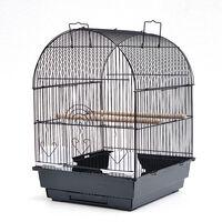 SiFree®Cage à Oiseaux 40 x 40 x 58 cm Cage pour Perruche Canari Calopsitte Corde de Jouet Ouverture Supérieure