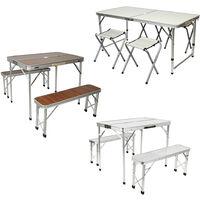 SiFree®Set Table pliante d'appoint portable+4 Chaises de Salle à Manger pour camping ou réception.