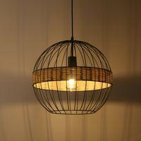 NATURA LOFT Lámpara colgante Iluminación interior creativa Lámpara de hierro de 40W para sala de estar / Dormitorio / Comedor Blanco cálido Estilo contemporáneo y retro