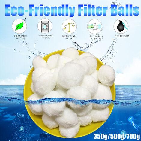 350g / 500g Cotton Pool Filter Balls Swimming Pool Aquarium Cleaning Water (500g Filter Balls)