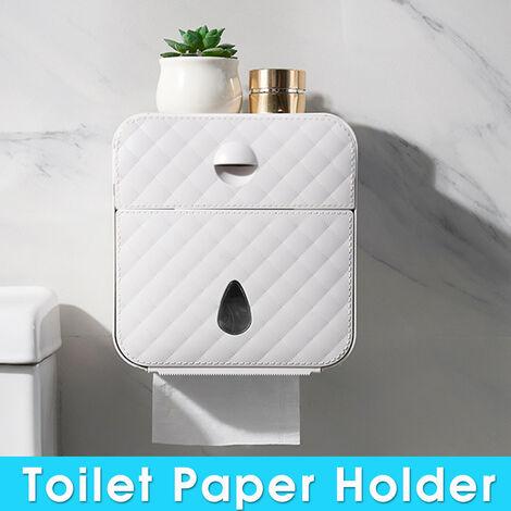 Waterproof Toilet Roll Holder Wall Mounted Toilet Tissue Dispenser (Gray)