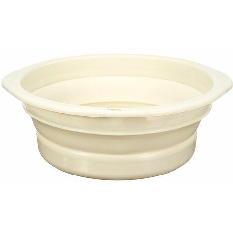Washbasin Foldable portable washing basin 39.5 * 14CM beige