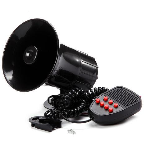 7 Sounds 12V Car Security Warning Alarm Loudspeaker Police Fire Horn Siren